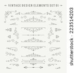 vintage vector design elements. ... | Shutterstock .eps vector #223514203