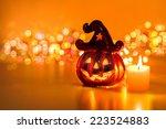 Halloween pumpkin with...