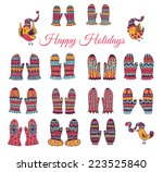 the set of hand drawn vector... | Shutterstock .eps vector #223525840