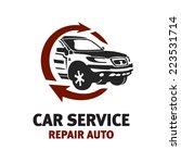car service logo template.... | Shutterstock .eps vector #223531714