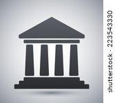 vector bank building icon | Shutterstock .eps vector #223543330