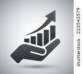 vector growing graph icon on... | Shutterstock .eps vector #223543579