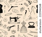 pattern of the theme of sewing | Shutterstock .eps vector #223546168
