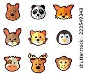 animal head icons | Shutterstock .eps vector #223549348