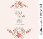 wedding invitation | Shutterstock .eps vector #223550164