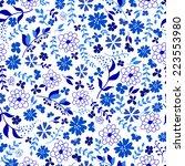 seamless pattern from blue... | Shutterstock .eps vector #223553980