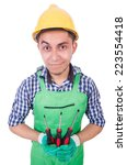 industrial worker isolated on... | Shutterstock . vector #223554418