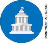 vector court building  | Shutterstock .eps vector #223560583