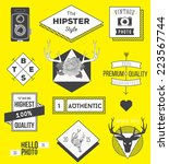 collection of hipster labels ... | Shutterstock .eps vector #223567744