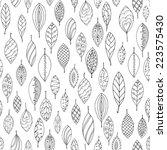 autumn white and black seamless ... | Shutterstock .eps vector #223575430