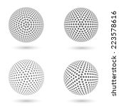 abstract dotted spheres | Shutterstock .eps vector #223578616