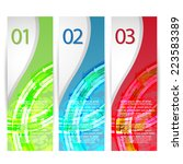 web banners with number options | Shutterstock .eps vector #223583389