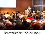 speaker at business conference... | Shutterstock . vector #223584568