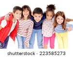 little kids isolated in white | Shutterstock . vector #223585273
