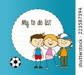 kids design over blue... | Shutterstock .eps vector #223587394