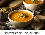 homemade autumn butternut... | Shutterstock . vector #223587868