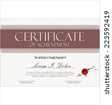 certificate template | Shutterstock .eps vector #223592419