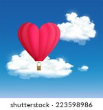 hot air balloon in the shape of ... | Shutterstock .eps vector #223598986