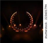winner background  gold laurel... | Shutterstock .eps vector #223601794