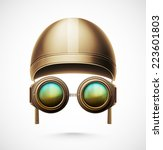 accessories pilot  helmet and... | Shutterstock .eps vector #223601803