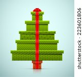 Christmas Tree Of Gifts  Eps 10