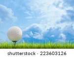 Golf Ball On Green Lawn  Over ...