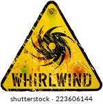 whirlwind warning sign  gungy... | Shutterstock .eps vector #223606144