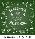 school logo and elements | Shutterstock .eps vector #223613590