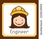 profession design over brown... | Shutterstock .eps vector #223614043