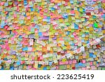 Small photo of HONG KONG,OCT. 13:people post the memo on the wall of admiralty government offices in Admiralty on 13 october 2014. Umbrella revolution after two week, people still insist in occupy protest.