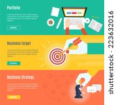 element of business concept... | Shutterstock .eps vector #223632016
