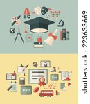 education infographics. | Shutterstock .eps vector #223633669