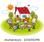 home and family | Shutterstock .eps vector #223650298
