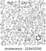 vector children's drawings  | Shutterstock .eps vector #223652530