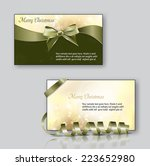 christmas greeting cards  ... | Shutterstock .eps vector #223652980