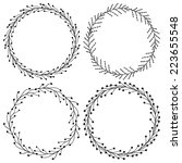 set wreaths | Shutterstock .eps vector #223655548