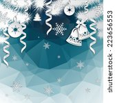 abstract new year background... | Shutterstock .eps vector #223656553