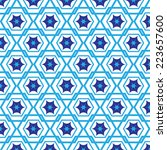 blue graphic pattern abstract... | Shutterstock .eps vector #223657600