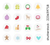 christmas icons | Shutterstock .eps vector #223659718