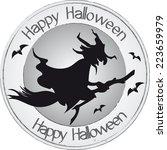 stamp halloween   Shutterstock .eps vector #223659979