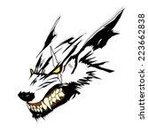 vector symbol tattoo wolf | Shutterstock .eps vector #223662838