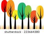 vector tree   Shutterstock .eps vector #223664380