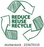 illustration of recycling sign | Shutterstock .eps vector #223670110