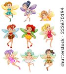 illustration of many fairies...