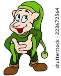 green elf   colored cartoon... | Shutterstock .eps vector #223672564