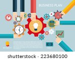 flat design vector illustration ... | Shutterstock .eps vector #223680100