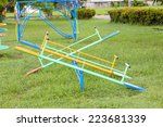 empty seesaw on a playground | Shutterstock . vector #223681339