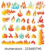 fire flames  set icons  vector... | Shutterstock .eps vector #223685740