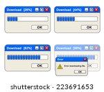 progress in downloading from... | Shutterstock .eps vector #223691653