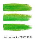 colorful watercolor brush... | Shutterstock . vector #223699396